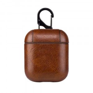 Leather Case for Apple Airpods - Dark Br...
