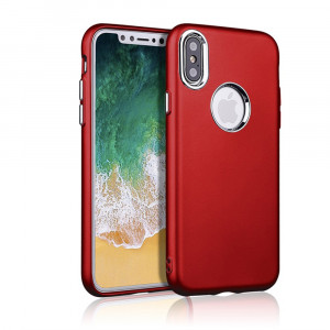 iPhone X - Soft TPU Case with Metal Butt...