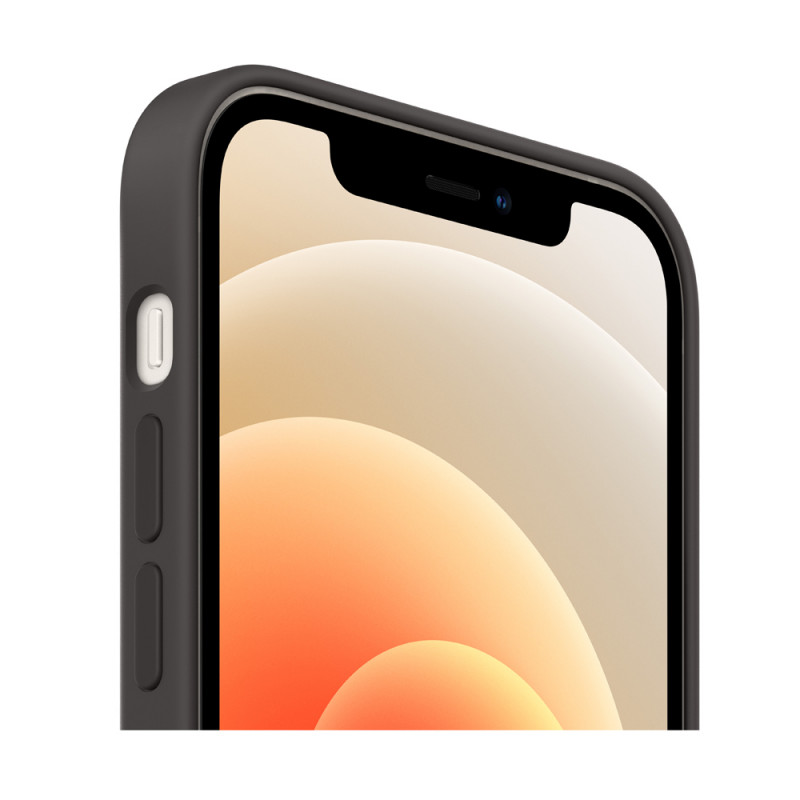 Soft Silicon Case for iPhone 12 Series - Black