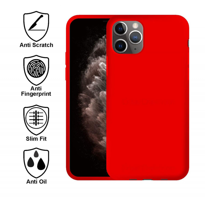 Soft Silicon Case for iPhone 11 Series - Red