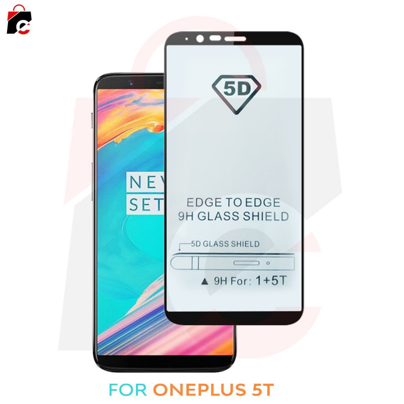 OnePlus 5T - 5D Tempered Glass Screen Protector