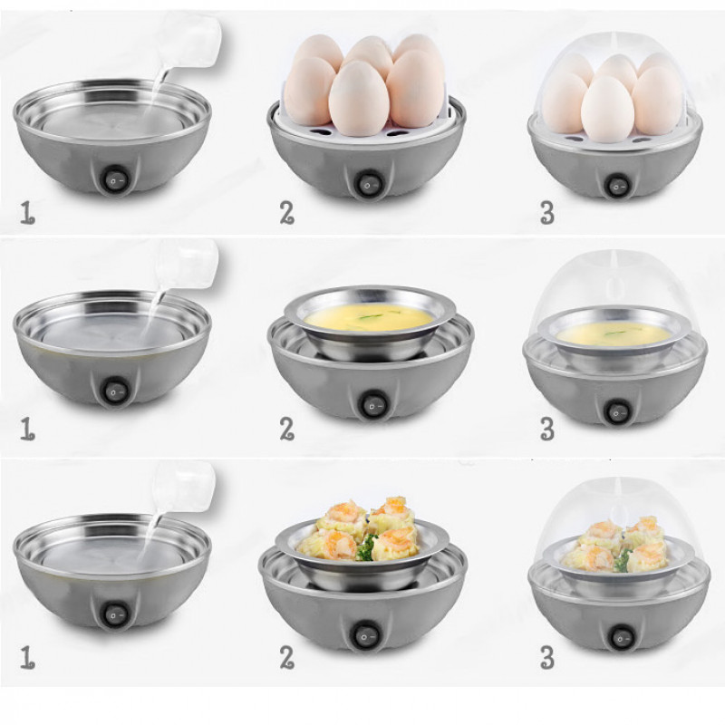 Electric Egg Cooker for up to 7 Eggs  / Boiler Steamer Cooking Tools Kitchen Utensils